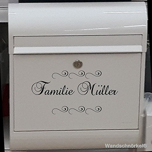 Namenaufkleber Namenschild universelle Einsatzmöglichkeiten.Haustür Briefkasten Wandtattoo Möbel Fliesen
