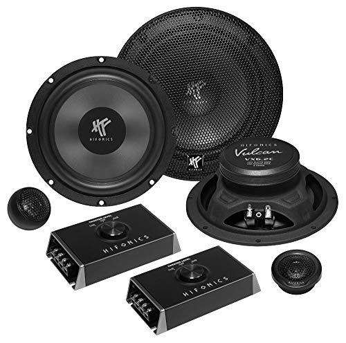 Hifonics VX-6.2C 2-Wege Einbaulautsprecher-Set 200 Watt VX6.2C 16,5cm Auto Lautsprecher Boxen