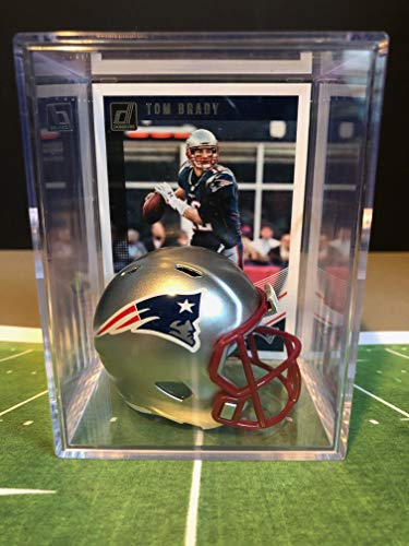 New England Patriots NFL Helmet Shadowbox w/Tom Brady card