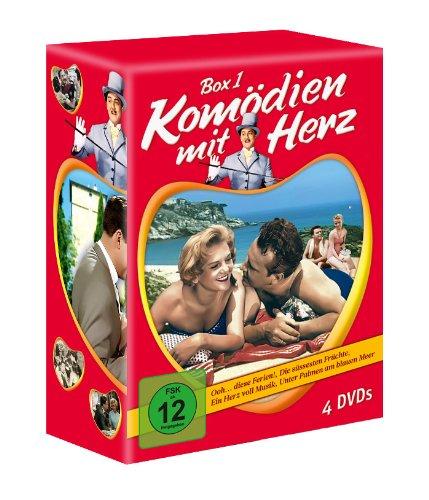 Komödien mit Herz - Box 1 (Ooh...diese Ferien - Die süssesten Früchte - Ein Herz voll Musik - Unter Palmen am blauen Meer) [4 D