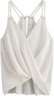 Alixyz Women Vest, Summer V Neck Bandage Camisole Top Sleeveless Solid Casual Top Tank