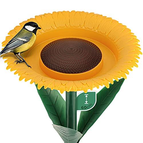WILDLIFE FRIEND Alimentador de Flores para Aves Silvestres – Comedero de pie 60 cm I Bebedero para pájaros – Comedero para pájaros I Comedero para pájaros en el jardín
