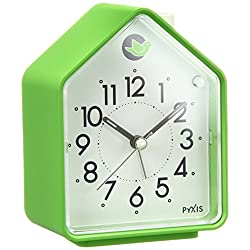 Seiko Analog Alarm Clock Chirping Bird Green NR434M