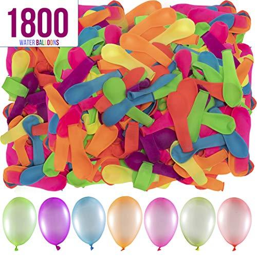 Prextex 1800 Water Balloons Bulk Balloons Pack for Water Sports Fun,...