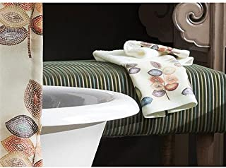 Croscill Mosaic Leaves Towel Collection Ivory Hand towel