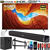 Sony XBR65X900H 65 inch X900H 4K Ultra HD Full Array LED Smart TV (2020 Model) Bundle with Deco Gear Home Theater Soundbar with Subwoofer, Wall Mount Accessory Kit, 6FT 4K HDMI 2.0 Cables and More