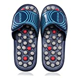 BYRIVER Spring Massage Slippers Sandals Shoes, Circulation Foot Calf Leg Massager, Neuropathy Arthritis Plantar Fasciitis Feet Pain Relief, Christmas Gift for mom dad(05S)