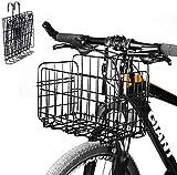 SOULBEST Cesta De Bicicleta Plegable Cesta de la Compra - Malla De Alambre Desmontable Cesta De Bicicleta Colgante Trasera Delantera Fácil Instalación Accesorios para Bicicleta De Montaña