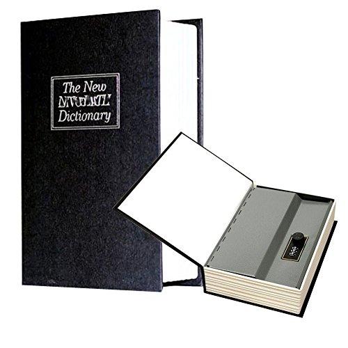 Libro caja fuerte, caja caudales libro Trompe dictionnairs Inglés negro 24cm
