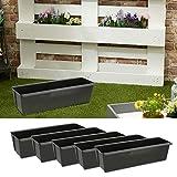 Set di 6 vasi per piante in plastica, larghezza 38 cm (1 x set da...