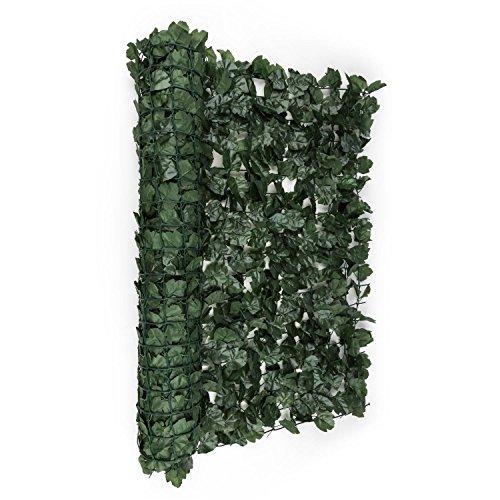 blumfeldt Fency Dark Ivy - Sichtschutz, Windschutz, Lärmschutz, 300 x 100 cm, Efeublätter, hohe Blickdichte, kunststoffummanteltes Gitternetz, 6 x 6 cm Maschenweite, dunkelgrün