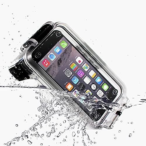 Pixco - Funda impermeable para teléfono inteligente IPX8, con control remoto Bluetooth, funda de 30 m, para natación, buceo, lluvia, polvo, para iPhone 12, 11 Pro Max, XS XR X 8 7
