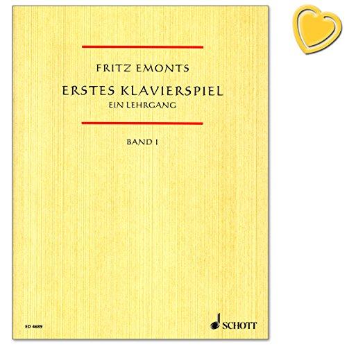 Erstes Klavierspiel Band 1 - Ein Lehrgang für den Anfangsunterricht Fritz Emonts von Fritz Emonts - Notenbuch mit bunter herzförmiger Notenklammer - ED4689 9783795751913