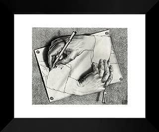 Drawing Hands 20x24 Framed Art Print by M.C. Escher