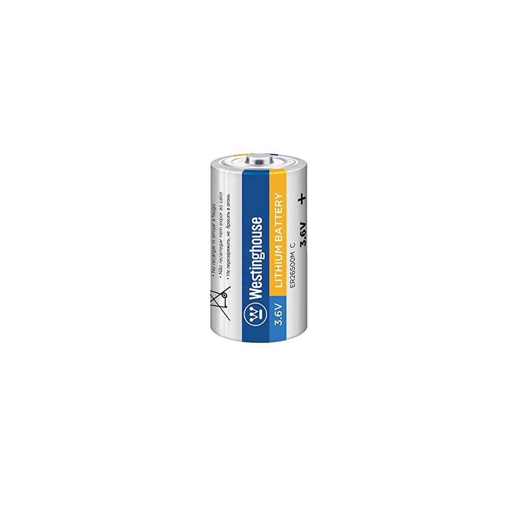 Westinghouse ER26500 C Size 3.6V 9000mAh Li-Socl2 Lithium Thionyl Chloride Primary Non-Rechargeable Battery (1 Count)