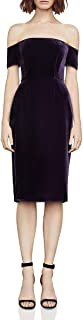 BCBG Max Azria Womens Kerry Velvet Off-The-Shoulder Cocktail Dress