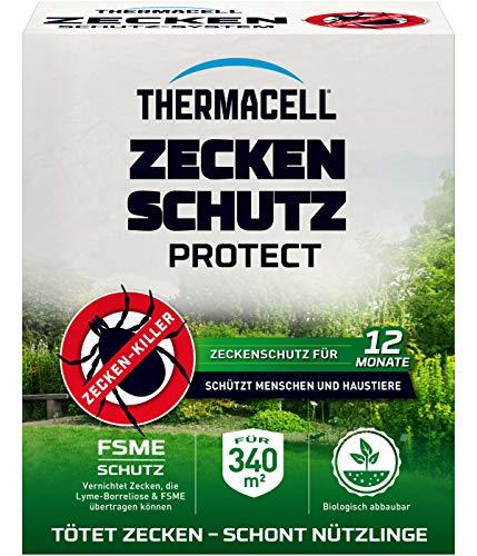 Thermacell Zeckenschutz Protect, Zeckenröhren innovativer Schutz vor Zecken im eigenen Garten, 8 Rollen für 340m² Fläche, mehrfarbig
