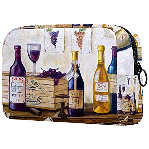 Trousse de Maquillage,Sac de Maquillage,Trousse de Toilette,vin ,Boîte de Rangement cosmétique