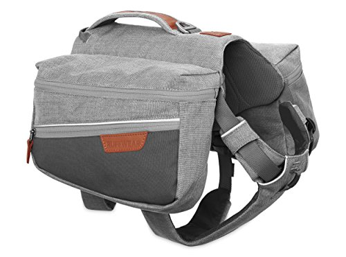 RUFFWEAR Dog Pack for Everyday Use, Medium Sized Breeds, Adjustable Fit, Size: Medium, Cloudburst Grey, Commuter Pack, 5050-045M