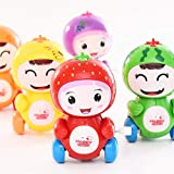 2-OYSS Toddlers and New-Born Babies Cute Cartoon Fruit Design Funny Wind Up Walking