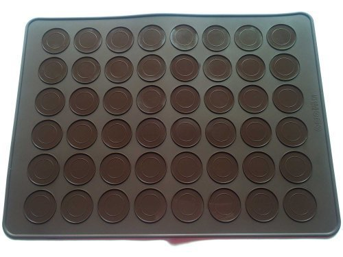 grand 48 cavité Tapis à Macarons moule en silicone kit anti-adhésive