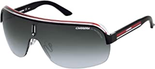 Carrera Topcar 1 KB0-PT Shiny Black & Red on Clear/Grey Gradient Unisex Shield Sunglasses