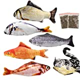Natuce 5PCS 20 cm Catnip Fish Toys for Cat, Cat Toys, Cat Catnip Toys, Cat Fish Pillow, Cat Chew Toys, Pet Toy, Cat Pillow, Fish Toy, Teeth Cleaning, Interactive Plush Cat Toys for Cat, Puppy, Dog