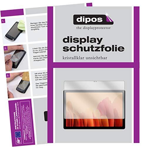 dipos I 2X Schutzfolie klar kompatibel mit Samsung Tab A7 WiFi Folie Bildschirmschutzfolie