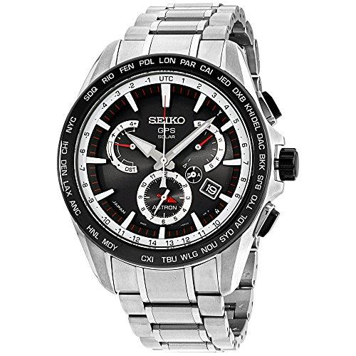 Seiko Reloj de Pulsera para Hombre con cronógrafo, Cuarzo, Acero Inoxidable SSE051J1