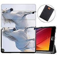 MAITTAO Slim Folio For Verizon ASUS ZenPad Z8S Case ZT582KL 2017 Release, Magentic Smart Stand Cover with Wake/Sleep for Verizon ASUS ZenPad Z8S 7.9-Inch Tablet Sleeve Bag 2 in 1, Flowers & Leafs 12