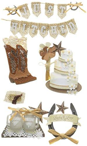 Unbekannt joleesjolee 's Boutique dreidimensionale Stickers-Western Hochzeit, andere, Mehrfarbig