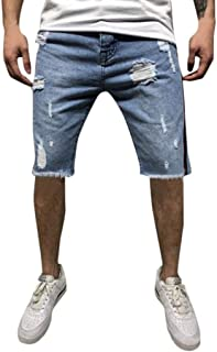 51ac4e09538 Pantalones Cortos para Hombres Pantalones Vaqueros Pantalones Deportivos  Pantalones Slim Fit Pantalones Rallados Pantalones De Lino