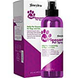 Lavender Dog Deodorizer for Smelly Dogs - Dog Odor Spray for Fur Cleansing with Essential Oils for Dogs and Puppy Perfume for Small Dogs - Dog Deodorizer Spray and Dog Wash for Aromatherapy Pet Care