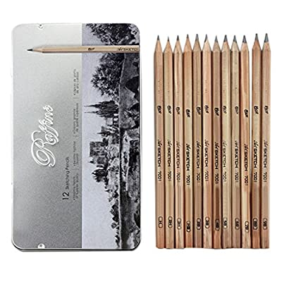 Bao Core 18 Pieces Paper Pen Charcoal Sketch/Draw Drawing and Sketching Pencil Set with Eraser Cutter Pencil Extender for Drawing Beginners in Roll Up Washable Canvas Carry Pounch