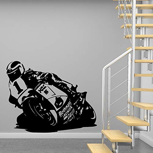 Cool Moto Bike pegatinas de vinilo para pared pegatinas de pared de moda moderna decoración de dormitorio para niños calcomanía de pared decorativa A2 XL 57x72cm