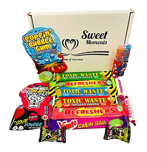Little Monster Box – Retro Brain Blasterz, Toxic Waste, Sweet and Sour Edition Box Perfect for Halloween and for Fun Times by Taste of Selection