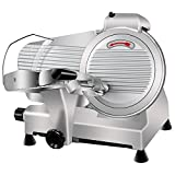 Super Deal Commercial Stainless Steel Semi-Auto Meat Slicer, Cheese Food Electric Deli Slicer...