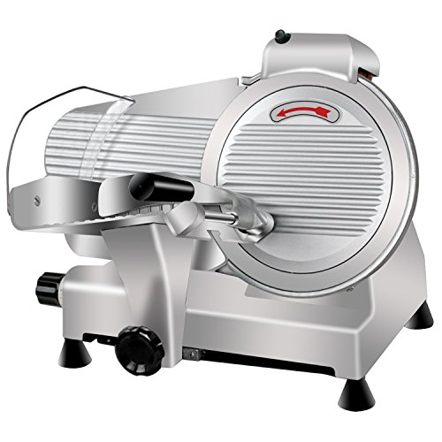 Super Deal Commercial Stainless Steel Semi-Auto Meat Slicer, Cheese Food Electric...