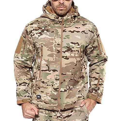 ANTARCTICA Men's Mountain Waterproof Ski Jacket Outdoor Sports Windproof Rain Jacket (CP Camo, XXL)