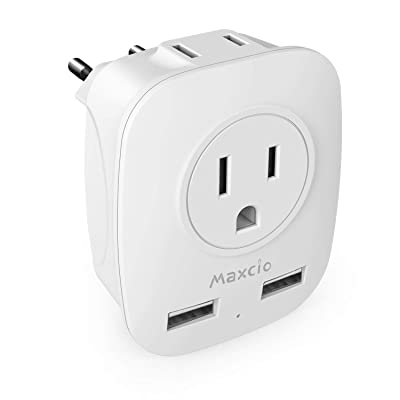 European Travel Adapter, Maxcio Plug Adapters f...