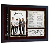 SGH SERVICES Metallica Nothing Else Matters James Hetfield Rockband Music signierter Fotodruck gerahmt -