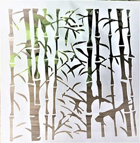 Boutique d'isacrea Schablone, Kunststoff, 13 x 13 cm, Bambus