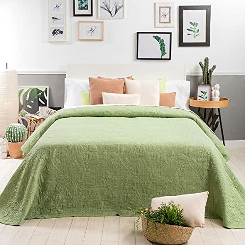Sancarlos Lantana-Colcha Bouti, Color Verde, Cama de 90