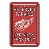 Fremont Die 80216 Detroit Red Wings Plastic Parking Sign