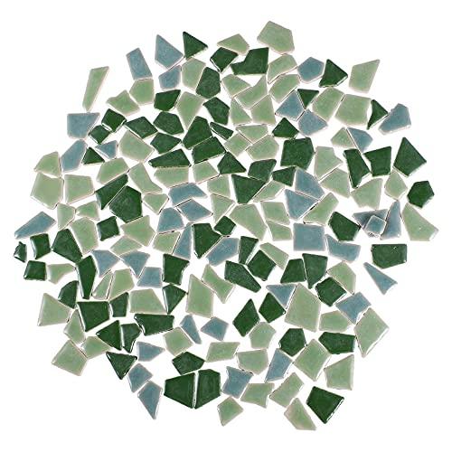 EXCEART 200G Azulejos de Mosaico de Cerámica Coloridos Azulejos de Porcelana Rotos Irregulares Piezas de Cristal de Mosaico de Vidrio para Manualidades DIY Platos Floreros Hechos a Mano