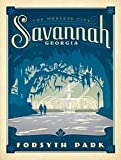 Vintage Art Savannah Georgia Forsyth Park Sticker (ga River Travel City rv)