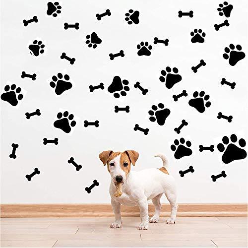 SITAKE 76 pegatinas para decoración de perros, 40 pegatinas para mascotas con estampado de pata de perro y 36 pegatinas para huesos de perro, pegatinas para la habitación de niñas y niños