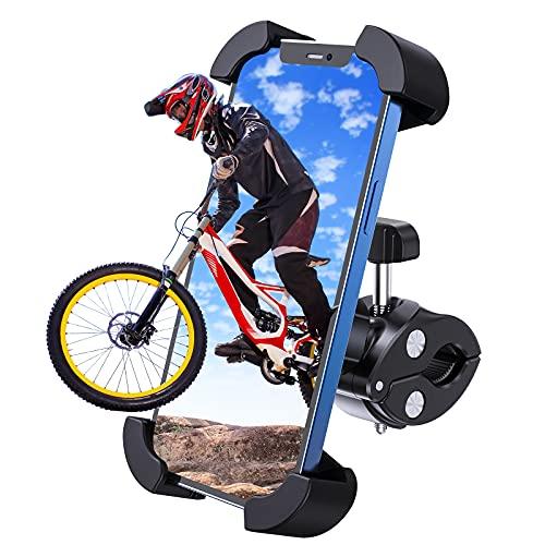 APMIEK Supporto Telefono Bicicletta, Metallico Supporto Motociclo, Anti Vibrazione con Rotazione a 360°Universale Porta Cellulare Bici per Tutti Gli Smartphone da 4,7-7', per Manubrio 18-32mm