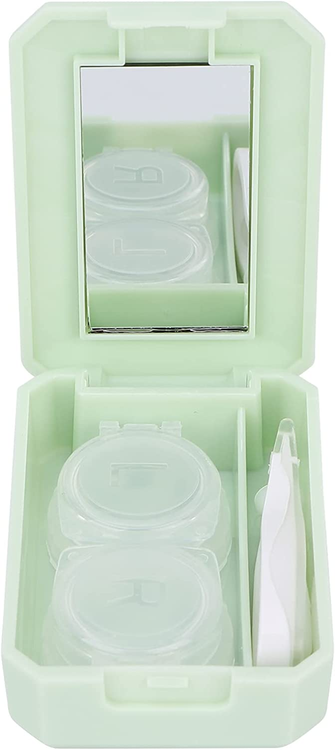 Contact Lens Case 2021 new Portable Box Mirror Tweezer Limited time trial price with