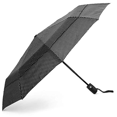 EEZ-Y Regenschirm Kompakter Reise-Taschenschirm mit windfester Konstruktion und doppeltem Dach - Auf-Zu-Automatik für Einhandbedienung - Stabil und leicht
